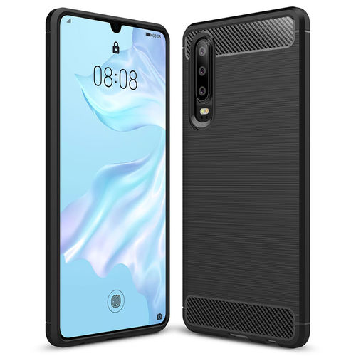 Flexi Slim Carbon Fibre Case for Huawei P30 Pro - Brushed Black